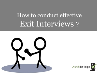 How to conduct Effective Exit Interviews