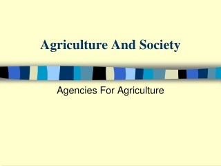 Agriculture Agencies