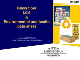 Glass fiber LCA  Environmental and health data sheet