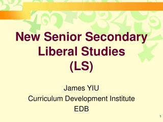 New Senior Secondary Liberal Studies LS