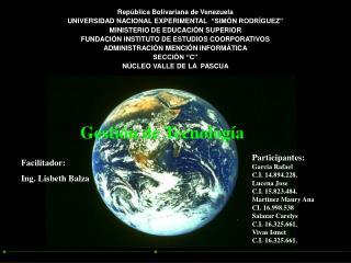 Rep blica Bolivariana de Venezuela UNIVERSIDAD NACIONAL EXPERIMENTAL   SIM N RODR GUEZ  MINISTERIO DE EDUCACI N SUPERIOR