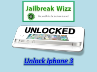 Unlock Iphone 3