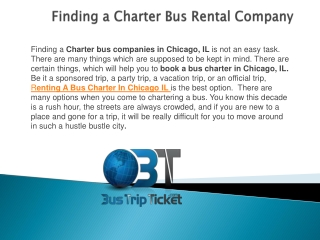 Finding a Charter Bus Rental Company
