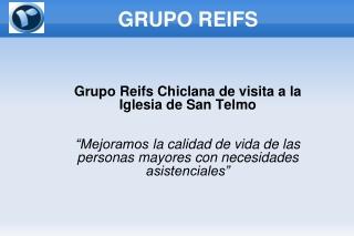 Grupo Reifs Chiclana de visita a la iglesia de San Telmo
