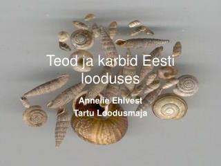 Teod ja karbid Eesti looduses