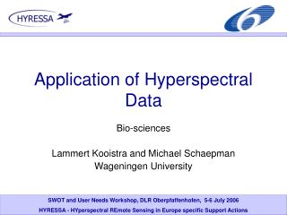Application of Hyperspectral Data