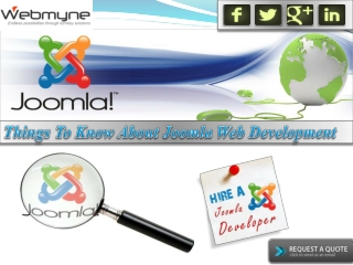 Things to Know About Joomla Web Development Services