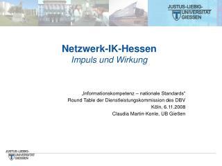 Netzwerk-IK-Hessen Impuls und Wirkung