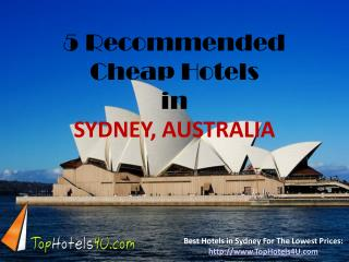 Sydney - 5 Recommended Cheap Hotels