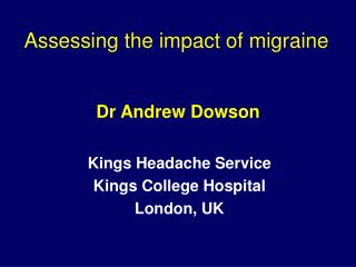 Dr Andrew Dowson