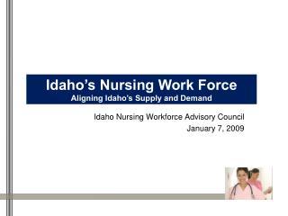 Idaho Nursing Workforce Advisory Council January 7, 2009