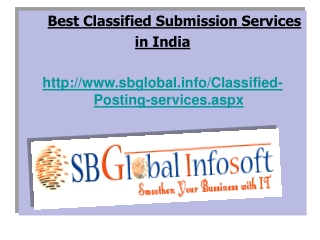 Professional Classified Submissions Services India
