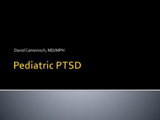 Pediatric PTSD