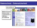Datenschutz - Datensicherheit