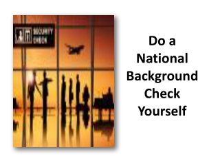 Do a National Background Check Yourself