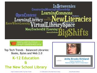 Super Conference 2009: Top Tech Trends K-12 Education  The New School Library Anita Brooks Kirkland