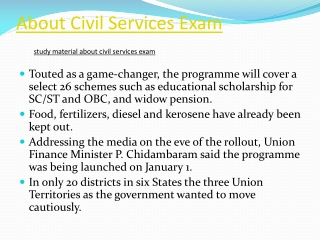 About Civil Services Exam