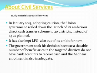 About Civil Services
