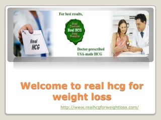 real hcg for weight loss-where can I get hcg