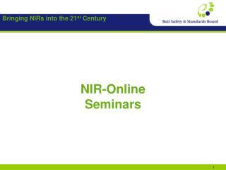 NIR-Online Seminars
