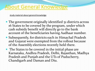 About General Knowledge