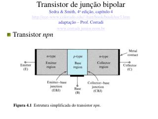 Transistor de jun  o bipolar Sedra  Smith, 4a edi  o, cap tulo 4  ece-colorado