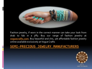 semi-precious jewelry manufacturers