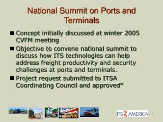 National Summit on Ports and Terminals