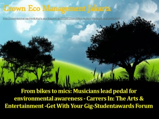 From bikes to mics Musicians lead pedal for environmental aw