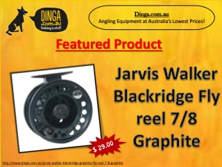 Jarvis Walker Blackridge Fly Reel 7/8 Graphite