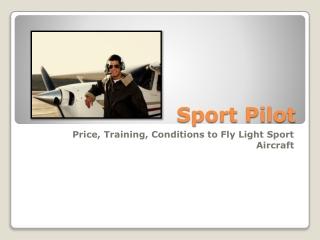 Sport Pilot License