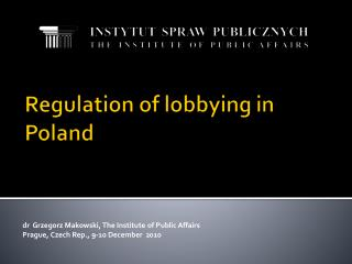 Regulation of lobbying in Poland