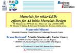 Materials for white-LED: efforts for Ab initio Materials Design  M. Mikami et al., IOP Conf. Ser.: Mater. Sci. Eng. 1, 0