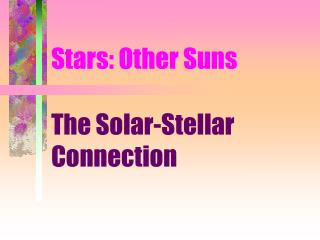 Stars: Other Suns