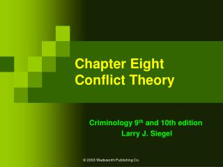 Chapter Eight Conflict Theory