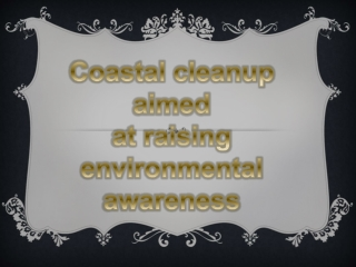 Forum Post: Head-Fi.org article, Coastal cleanup aimed at ra