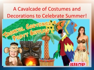 A Cavalcade of Costumes and Decorations to Celebrate Summer!