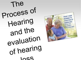 The Process of Hearing and the evaluation of hearing loss