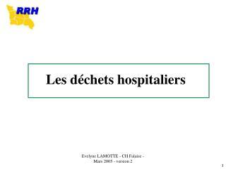Les d chets hospitaliers