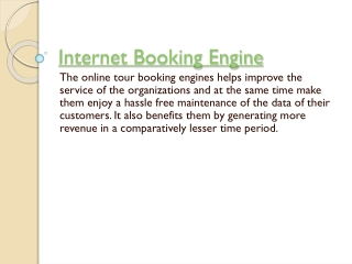 Internet Booking Engine | Online Booking Engine | Travel Boo