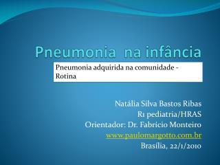 Pneumonia na inf