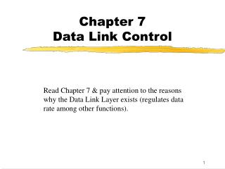 Chapter 7 Data Link Control