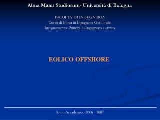 Alma Mater Studiorum- Universit  di Bologna