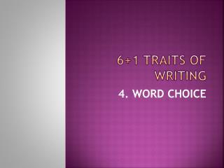 61 Traits of Writing