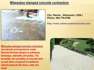 Milwaukee Stamped Concrete Contractors