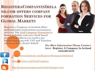 RegisteraCompanyinIreland.com offers Company Formation  Serv