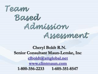 Team   Based    Admission        Assessment
