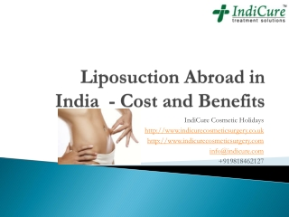 Liposuction Abroad in India - Cost and Benefits