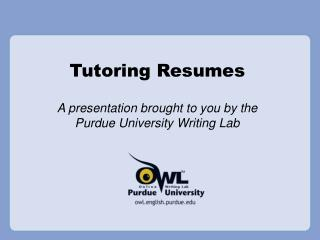 Tutoring Resumes