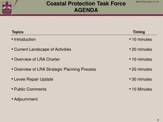 Coastal Protection Task Force  AGENDA
